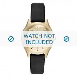 Karl Lagerfeld correa de reloj KL1617 Cuero Negro