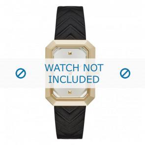 Karl Lagerfeld correa de reloj KL6102 Cuero Negro