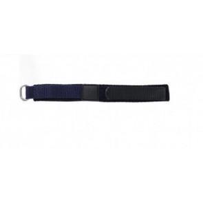 Correa de reloj Universal KLITTENBAND 412R Velcro Azul 14mm