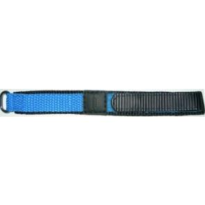 Correa de reloj Universal KLITTENBAND 412R Licht Blauw Velcro Azul 14mm