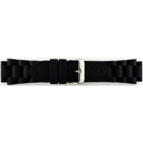 Correa de reloj Universal SL101 Silicona Negro 20mm