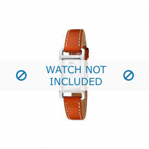 Lacoste correa de reloj 2000310 / LC-05-3-14-0006 Cuero Naranja 12mm + costura blanca