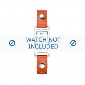 Lacoste correa de reloj 2000385 / LC-05-3-14-0009 Cuero Naranja 12mm + costura blanca