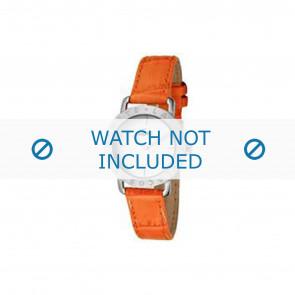 Lacoste correa de reloj 2000513 / LC-05-3-14-0167 Cuero Naranja 13mm + costura naranja