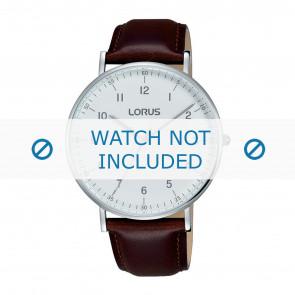 Lorus correa de reloj VJ21 X071 / RH895BX9 Cuero Marrón 20mm + costura marrón