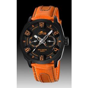 Correa de reloj Lotus 15788-2 Cuero Naranja