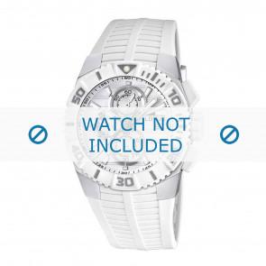 Lotus correa de reloj 15778.1 Caucho Blanco 26mm