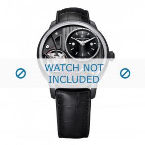 Maurice Lacroix correa de reloj MP6118-PVB01-330 Cuero Negro + costura negro