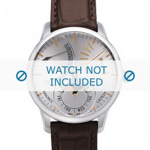 Maurice Lacroix correa de reloj MP6528-SS001-130 Cuero de cocodrilo Marrón + costura marrón