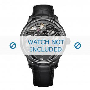 Maurice Lacroix correa de reloj MP6558-PVB01-092 Cuero de cocodrilo Negro + costura negro