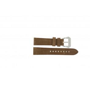 Max correa de reloj BR / 20mm  Cuero Marrón 20mm + costura marrón