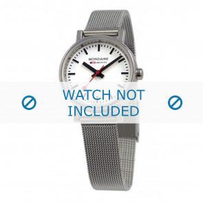 Mondaine correa de reloj A658.30301.11SBV / BM20037 / 30301 / EVO 26 Metal Plateado 12mm