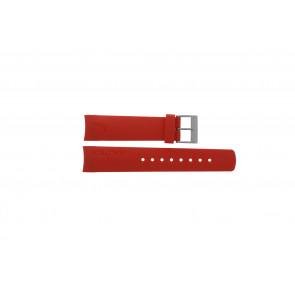 Nautica correa de reloj A18639G / A09902 / A37508G / N19524 / A13548G / A36003 / A13015 / N14611G Caucho Rojo 22mm