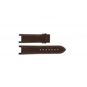 Guess correa de reloj GC41501G / 145003G1 Cuero Marrón 21mm + costura blanca