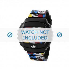 Adidas correa de reloj ADH6080 Plástico Negro 26mm