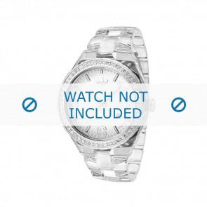 Adidas correa de reloj ADH2506 Plástico Blanco 22mm