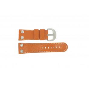 Correa de reloj Universal OVR-ORANJE-28MM Cuero Naranja 28mm