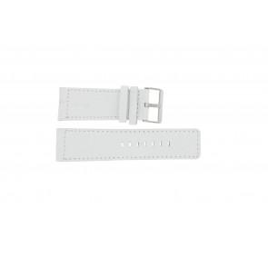 Correa de reloj Universal OOZOO-WIT-28MM Cuero Blanco 28mm