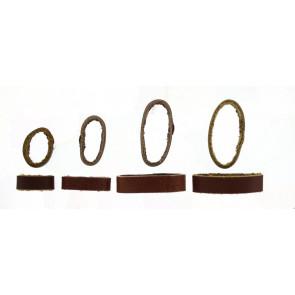 Tribullas para correas cuero marrón 10mm