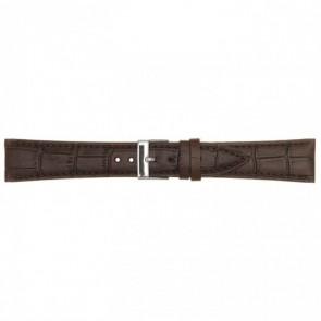 Correa de reloj cuero 18mm marrón oscuro PVK-497