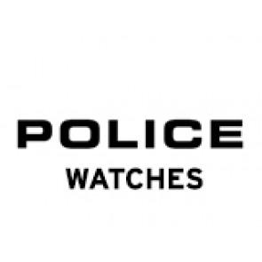 Police correa de reloj PL-14385J Cuero Negro