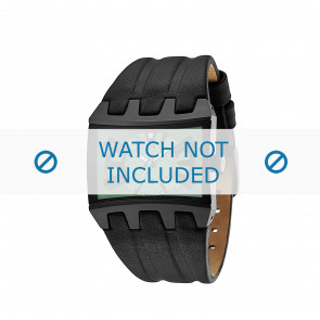 Police correa de reloj 13420JS-05B Cuero Negro
