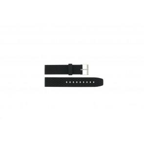 Correa de reloj PU102 Caucho / plástico Negro 20mm