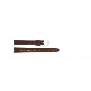 Correa de reloj de cuero croco barnizada marrón 14mm 082