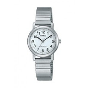 Lorus correa de reloj RRS81VX9 / V501 X471 / RHN148X Metal Plateado 13mm