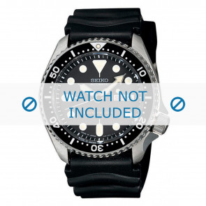 Correa de reloj Seiko 7S26-0020-SKX007K1 Caucho Negro 22mm