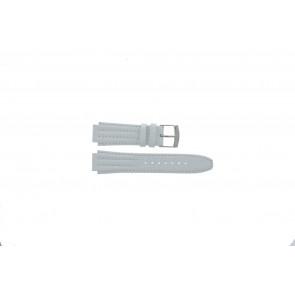 Correa de reloj Seiko 7T92-0HD0 / SND875P1 / 4LE7JB Cuero Blanco 16mm