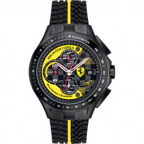 Correa de reloj Ferrari SF.03.1.34.0054-Y Silicona Negro