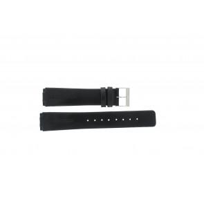 Skagen correa de reloj 433LSLC Cuero Negro 20mm + costura predeterminada