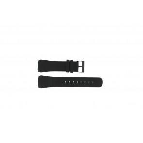 Skagen correa de reloj 856XLBLB / 856XLBLN Piel de cocodrilo Negro 24mm