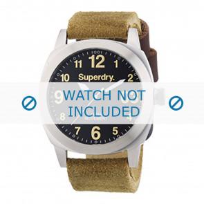 Superdry correa de reloj SYG103TB Cuero Marrón 24mm