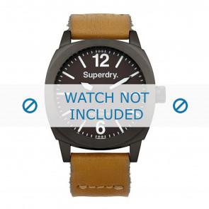 Correa de reloj Superdry SYG103TT Cuero Cognac 23mm