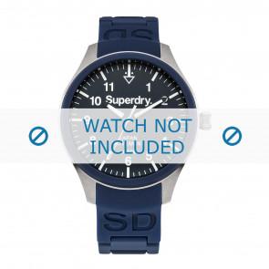 Superdry correa de reloj SYG109UG Caucho Azul