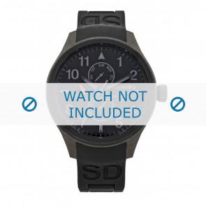 Correa de reloj Superdry SYG110B Silicona Negro 20mm