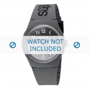 Superdry correa de reloj SYG198EE Plástico Gris