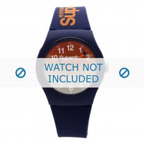 Superdry correa de reloj SYG198UO Plástico Azul