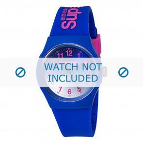 Superdry correa de reloj SYG198UU Plástico Azul