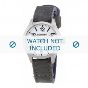 Correa de reloj Superdry SYL113E Cuero Gris 16mm