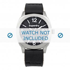 Correa de reloj Superdry SYL116B Cuero Negro 20mm