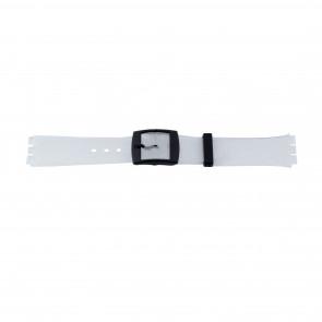 Correa de reloj Swatch 51.00 Caucho Blanco 17mm