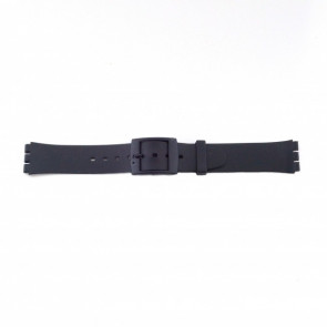 Swatch (de reemplazo) correa de reloj PVK P51 Goma / Plástico Negro 17mm