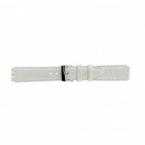 Correa de reloj Swatch 21414.11 Cuero Blanco 17mm