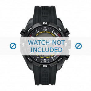 Correa de reloj Swiss Military Hanowa 06-4174.13.007 / LOC-7 Caucho Negro 24mm