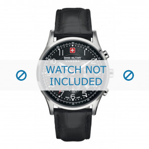 Correa de reloj Swiss Military Hanowa 06-4187.04.007 Cuero Negro 22mm