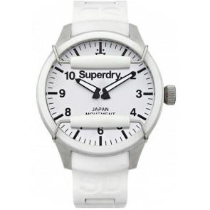 Correa de reloj Superdry SYG109W Silicona Blanco 20mm