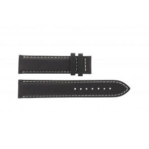Tissot correa de reloj T014.410.16.037.00 - T610025416 Cuero Marrón oscuro 19mm + costura blanca